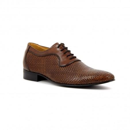 Chaussure cuir tresse